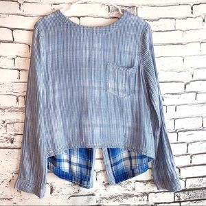 Cloth & Stone Distressed Top (Anthropologie)